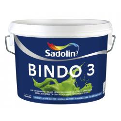 Lubų dažai SADOLIN BINDO 3, visiškai matiniai, baltos sp., BW bazė, 2,5 l
